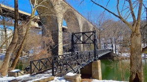 Bridges across the Brandywine River reflect changes in commerce and technology.